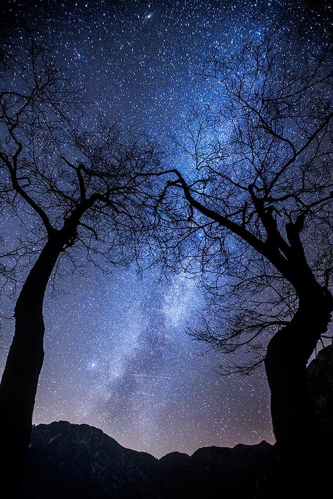 Milky Way over Bohinj lake, december 2015 © Tadej Pišek
