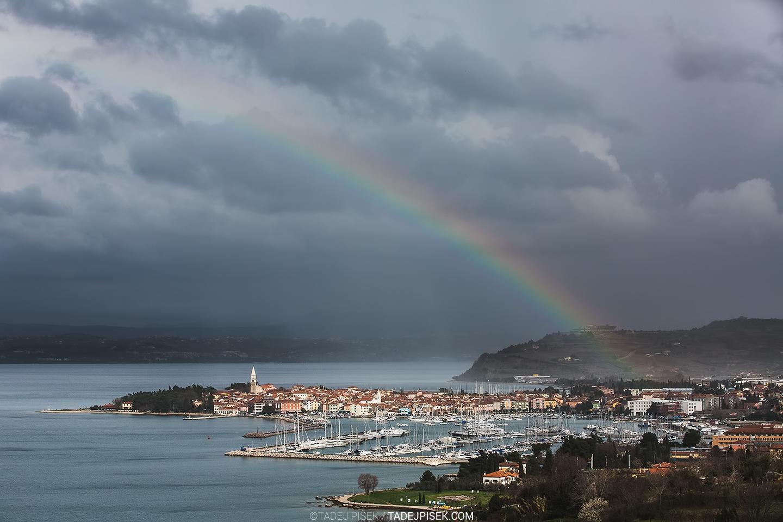 Rainbow over Izola, Slovenia, february 2016 © Tadej Pišek