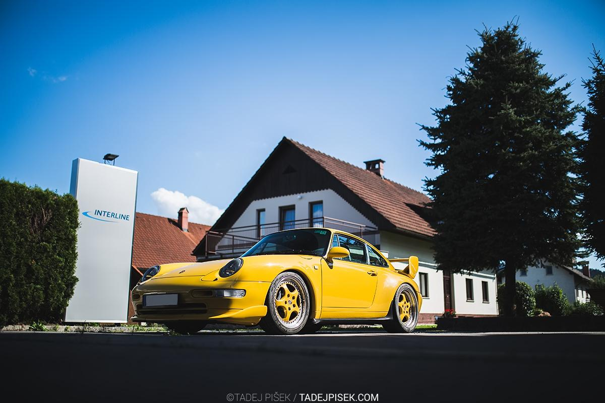 1995 Porsche 993 aero speedgelb